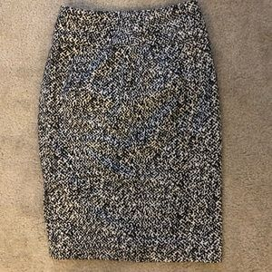 WHBM black and White and Grey Skirt